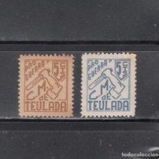 Sellos: TEULADA. PRO-GUERRASERIE DE 2 SELLOS DE 5 CYS.. Lote 217472646