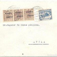 Sellos: LISTA AVILA. CRUZADA CONTRA EL FRIO. DE FONTIVEROS - AVILA A AVILA. 1936. Lote 217515293