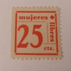 Sellos: MUJERES LIBRES. 25 CENTIMOS.. Lote 217577370