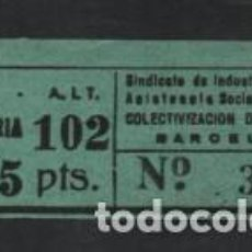Sellos: BARCELONA, 75 CTS,- C.N.T. A.I.T. BARBERIA- VER FOTO. Lote 217588876
