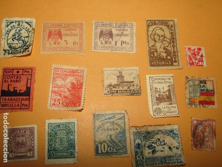 Sellos: Antiguo Lote de 37 Viñetas Guerra Civil de Ambos Bandos - Año 1936-39 - Foto 4 - 217898167