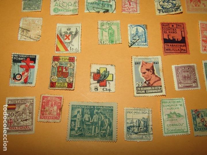 Sellos: Antiguo Lote de 37 Viñetas Guerra Civil de Ambos Bandos - Año 1936-39 - Foto 6 - 217898167