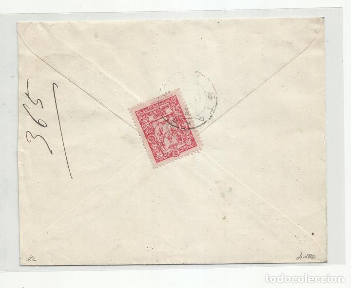 Sellos: circulada 1938 de sevilla a mondragon guipuzcoa con censura militar y sello local - Foto 2 - 217964067