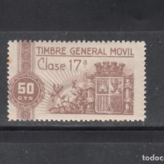 Sellos: TIMBRE GENERAL MÓVIL. 60 CTS,. Lote 217993376