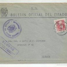 Francobolli: CIRCULADA 1938 BOE DE BURGOS A VITORIA CON CENSURA MILITAR. Lote 218018897