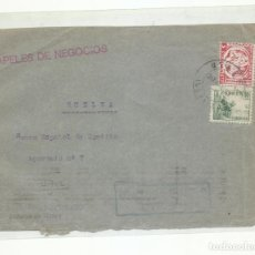 Sellos: FRONTAL CIRCULADA 1937 DE BANESTO UTRERA SEVILLA A HUELVA CON CENSURA MILITAR Y SELLO LOCAL. Lote 218021580