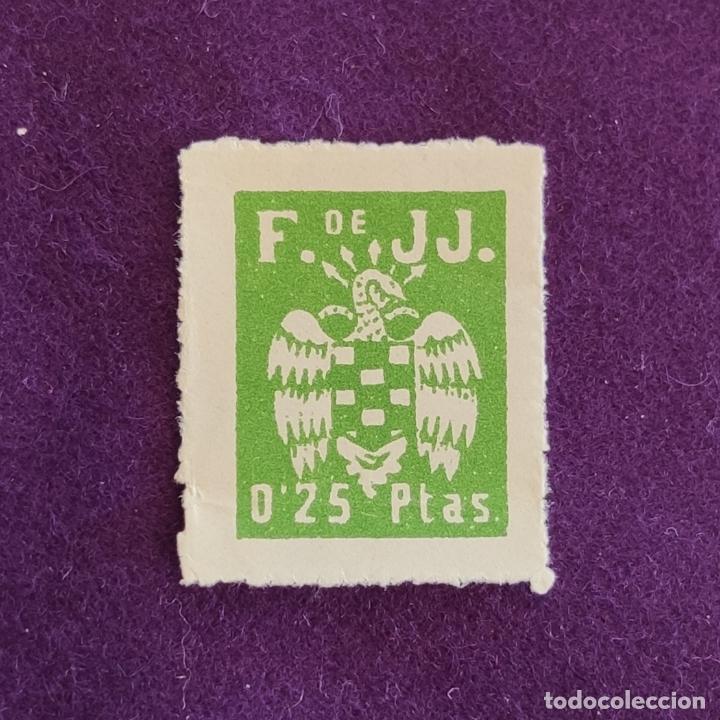 VIÑETA DE F. DE JJ. - FALANGE. 0,25 PTAS. FOURNIER. VIÑETAS-SELLO-SELLOS (Sellos - España - Guerra Civil - Viñetas - Nuevos)