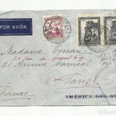Sellos: CIRCULADA 1938 DE BARCELONA A PARIS CON CENSURA REPUBLICANA. Lote 218385972