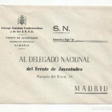 Sellos: SOBRE FALANGE ESPAÑOLA TRADICIONALISTA Y FRENTE DE JUVENTUDES DE ALMERIA. Lote 218412330