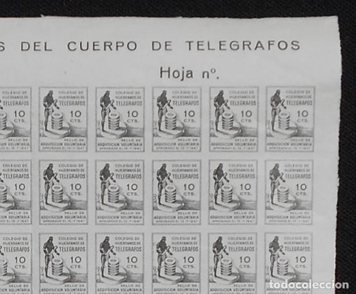Sellos: PLIEGO FISCALES 10 CTS - SIN DENTAR - SIN Nº - COLEGIO DE HUÉRFANOS DEL CUERPO DE TELÉGRAFO REF1113 - Foto 3 - 218421756