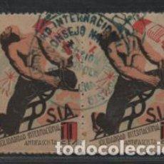 Sellos: VIÑETAS,- S.I.A. PAREJA- 10 CTS,-VER FOTO. Lote 218579768