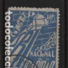 Sellos: VIÑETA.- S.R.I. 10 CTS,- AZUL, CONGRESO NAC. SOLIDARIDAD, VER FOTO. Lote 218580313