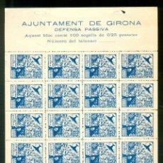 Sellos: NUMULITE A30150 AJUNTAMENT DE GIRONA DEFENSA PASSIVA 25 PTES. GERONA. Lote 218640786