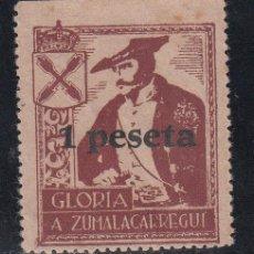 Sellos: REQUETÉS. GLORIA A ZUMALACÁRREGI, 1 PTS CASTAÑO ROJIZO. (AL.43). Lote 218644211
