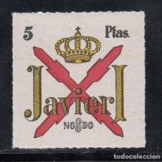 Sellos: CARLISTAS. JAVIER I, 5 PTS ROJO, AMARILLO Y NEGRO. (AL.78). Lote 218644282