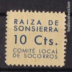 Sellos: LL17- GUERRA CIVIL. LOCALES RAIZA DE SONSIERRA *CON FIJASELLOS . LUJO. Lote 218644406