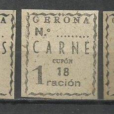 Sellos: 713B-SELLOS RACIONAMIENTO ESPAÑA GUERRA CIVIL GERONA.ABASTECIMIENTOS Y TRANSPORTES CUOTAS,CUPONES.B. Lote 218787512