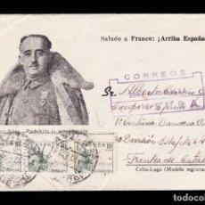 Sellos: *** CARTA AVILÉS-FRENTES DE CATALUÑA 1938. CUERPO EJÉRCITO MARROQUÍ, 1 CENT. BANDERA DE OVIEDO ***. Lote 218909307