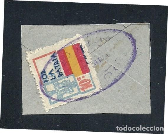A1-2788 GUERRA CIVIL ASTURIAS FESOFI Nº 9 SOBRE FRAGMENTO CON MARCA ILEGIBLE. (Sellos - España - Guerra Civil - Locales - Cartas)
