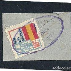 Sellos: A1-2788 GUERRA CIVIL ASTURIAS FESOFI Nº 9 SOBRE FRAGMENTO CON MARCA ILEGIBLE.. Lote 219029392