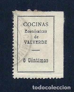 V1-22 GUERRA CIVIL VALVERDE DEL CAMINO FESOFI Nº 1 USADO (Sellos - España - Guerra Civil - Locales - Usados)
