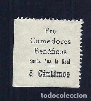 V1-22 GUERRA CIVIL SANTA ANA LA REAL FESOFI Nº 1 SIN FIJASELLOS (Sellos - España - Guerra Civil - Locales - Usados)