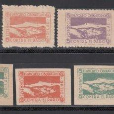 Sellos: FRANQUEO OBLIGATORIO CONTRA EL PARO, DILAR (GRANADA), (AL.1,2,3,). Lote 219226347