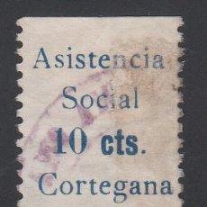 Sellos: ASISTENCIA SOCIAL, CORTEGANA (HUELVA), 10 C. AZUL (AL.3). Lote 219234448