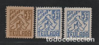 TEULADA,- 5 CTS,- 3 TIPOS DISTINTOS.- VER FOTO (Sellos - España - Guerra Civil - Viñetas - Usados)