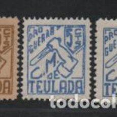 Sellos: TEULADA,- 5 CTS,- 3 TIPOS DISTINTOS.- VER FOTO. Lote 219371756