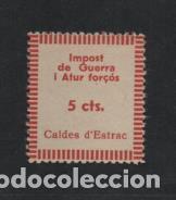 """CALDES D""""ESTRAC.- 5 CTS. IMPOST DE GUERRA..- VER FOTO (Sellos - España - Guerra Civil - Viñetas - Nuevos)"""