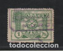 CARABINEROS, 1 PTA,- PRO-HUERFANOS.- VER FOTO (Sellos - España - Guerra Civil - Viñetas - Usados)