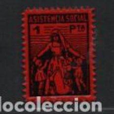 Sellos: VIÑETA.- 1 PTA- ASISTENCIA SOCIAL- VER FOTO. Lote 219378793