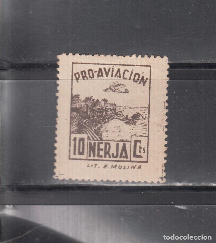 NERJA. PRO-AVIÓN. 10 CTS. (Sellos - España - Guerra Civil - Locales - Nuevos)