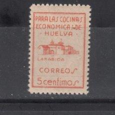 Sellos: HUELVA. PARA LAS CÓCINAS ECONÓMICAS. 5 CTS.. Lote 219425288