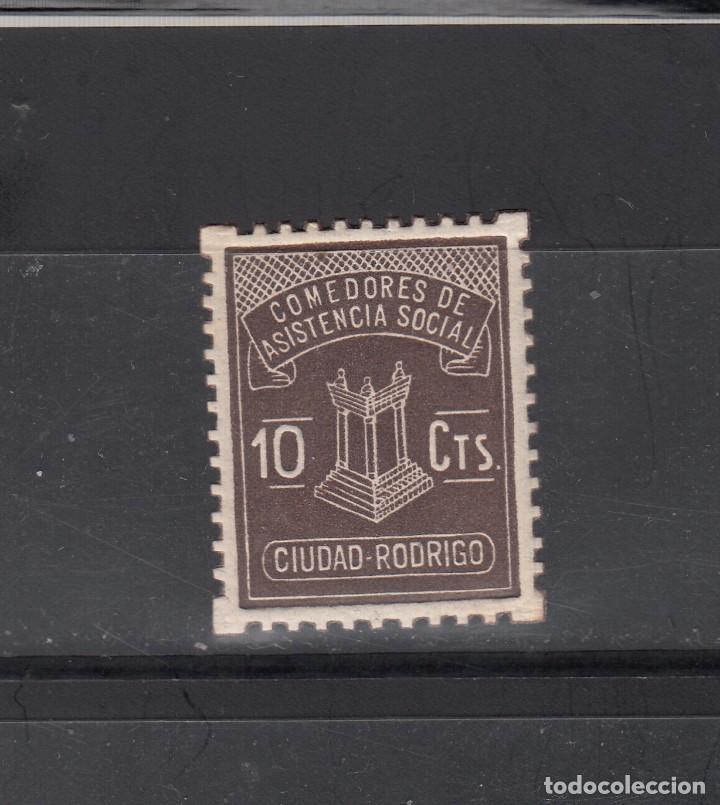 CIUDAD RODRIGO. COMEDORES ASISTENCIA SOCIAL. 10 CTS. (Sellos - España - Guerra Civil - Locales - Nuevos)