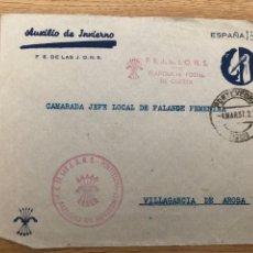 Timbres: FRONTAL AUXILIO DE INVIERNO. FRANQUICIA FE DE LAS JON-S. Lote 219512951