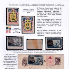 Sellos: PATRONATO CENTRAL PARA LA REDENCIÓN DE PENAS. Lote 219601947