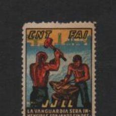 Sellos: VIÑETA,- C.N.T. F.A.I. JJ.LL. CENTRAJE DE LUJO, VER FOTO. Lote 219651516