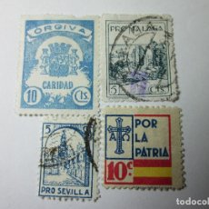 Sellos: SELLOS BENÉFICOS GUERRA CIVIL 4.. Lote 219747721