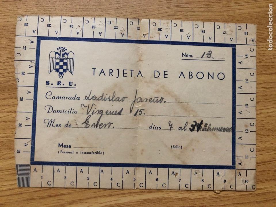 Sellos: FALANGE SEU HOGAR UNIVERSITARIO SEVILLA CARTILLA COMEDOR - Foto 2 - 219891255