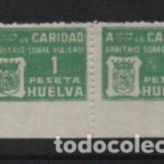 Sellos: HUELVA.- 1 PTA-- VERDE.-ASOCIACION DE CARIDAD-- PAREJA- VER FOTO-- VER FOTO. Lote 220612781