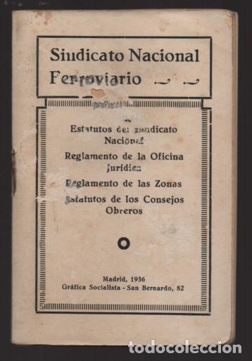 Sellos: MADRID,- U.G.T. SINDICATO NAC. FERROVIARIO- CON 3 CUOTAS OCT-NOV-Y DIC. 1936. VER FOTOS - Foto 2 - 220693042