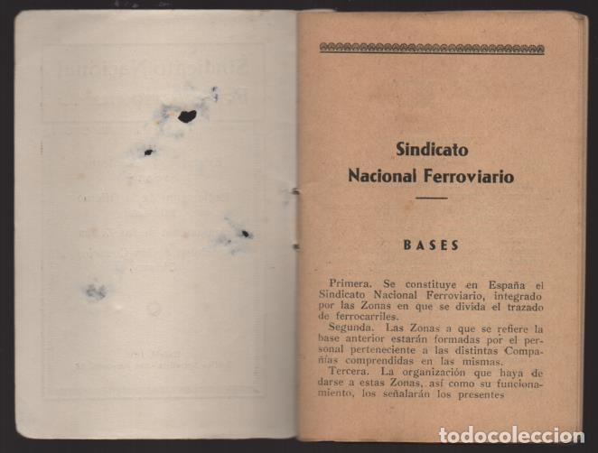 Sellos: MADRID,- U.G.T. SINDICATO NAC. FERROVIARIO- CON 3 CUOTAS OCT-NOV-Y DIC. 1936. VER FOTOS - Foto 3 - 220693042