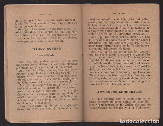 Sellos: MADRID,- U.G.T. SINDICATO NAC. FERROVIARIO- CON 3 CUOTAS OCT-NOV-Y DIC. 1936. VER FOTOS - Foto 5 - 220693042