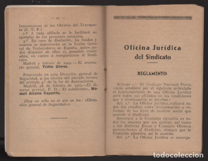 Sellos: MADRID,- U.G.T. SINDICATO NAC. FERROVIARIO- CON 3 CUOTAS OCT-NOV-Y DIC. 1936. VER FOTOS - Foto 6 - 220693042