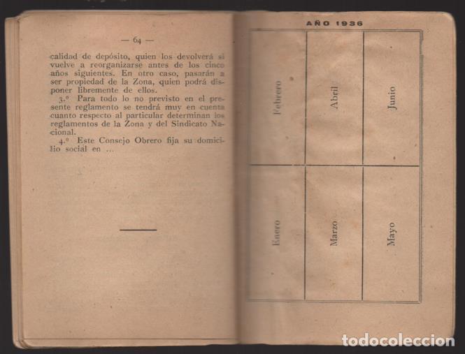 Sellos: MADRID,- U.G.T. SINDICATO NAC. FERROVIARIO- CON 3 CUOTAS OCT-NOV-Y DIC. 1936. VER FOTOS - Foto 11 - 220693042