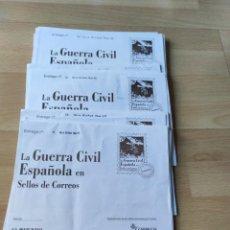 Sellos: 36 SOBRES DE SELLOS FACSÍMILES DE LA GUERRA CIVIL. Lote 220930947