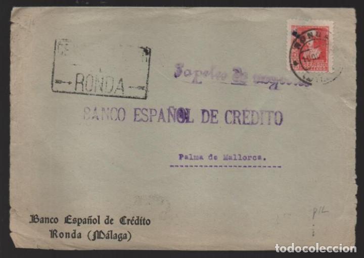 CARTA CIRCULADA DE RONDA-MALAGA- A PALMA DE MALLORCA,- VER FOTO (Sellos - España - Guerra Civil - Locales - Cartas)