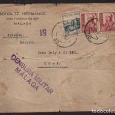 Sellos: CARTA CIRCULADA DE MALAGA A IRLANDA,- C.M. MALAGA- CENSOR 51- VER FOTOS,- VER FOTO. Lote 221095320